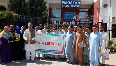 Walk to celebrate FATA merger at Pakistan Study Centre