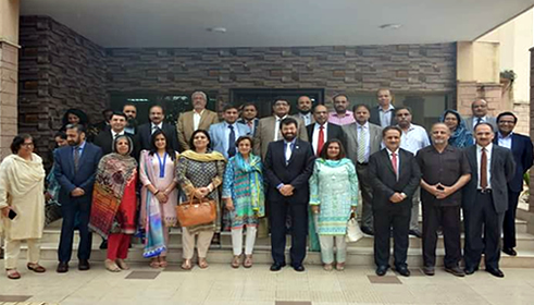 Dr Fakhar attends high level consultation at HEC